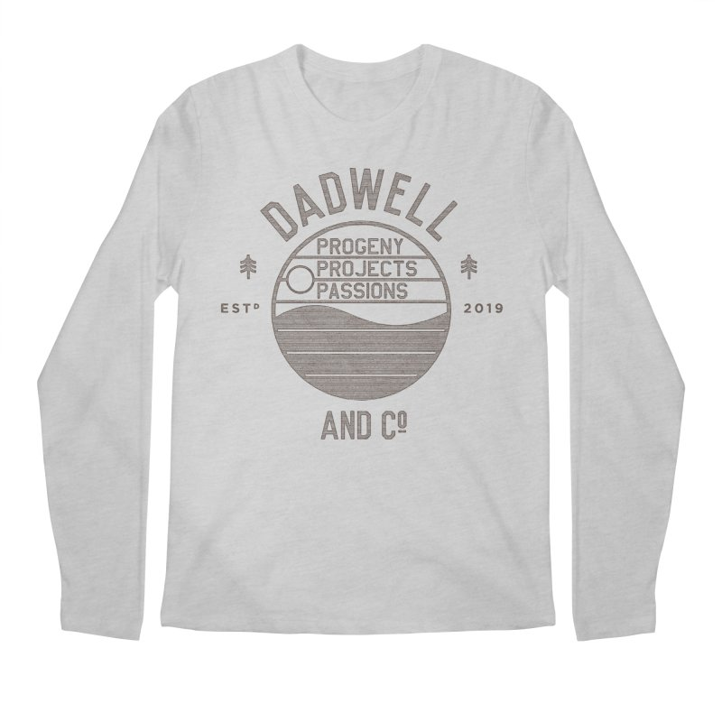 Campfire Stories in Men's Regular Longsleeve T-Shirt Heather Grey by Dadwell & Co.