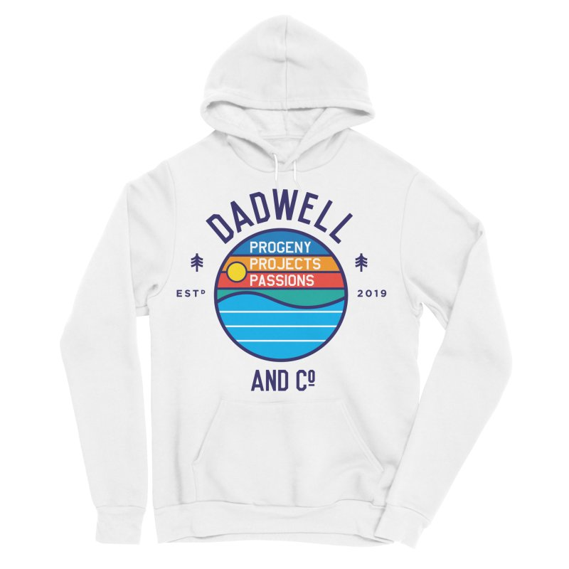 Campfire Sunset in Men's Sponge Fleece Pullover Hoody White by Dadwell & Co.