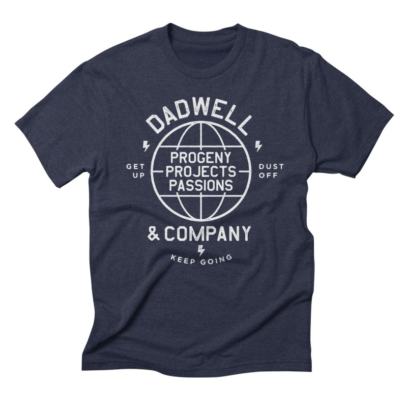 Rock 'n' Roll in Men's Triblend T-Shirt Navy by Dadwell & Co.