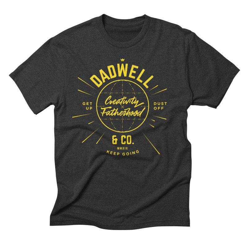 Tools of the Trade Gold in Men's Triblend T-Shirt Heather Onyx by Dadwell & Co.