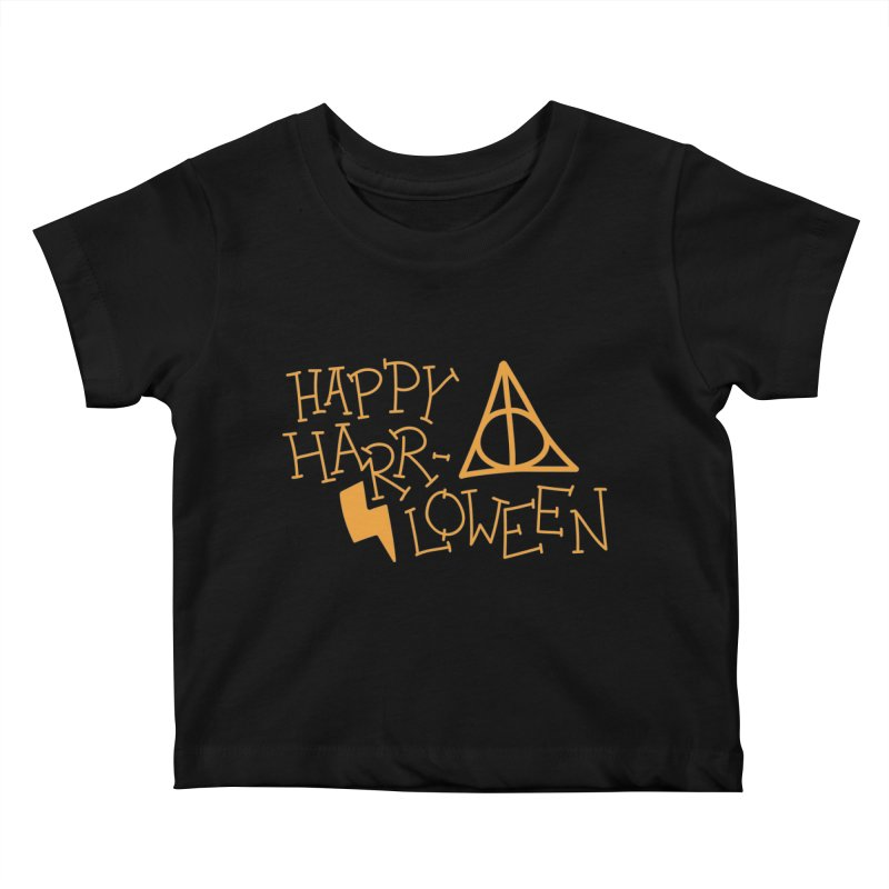 Happy Harrloween Kids Baby T-Shirt by Daily Lovejuice Apparel