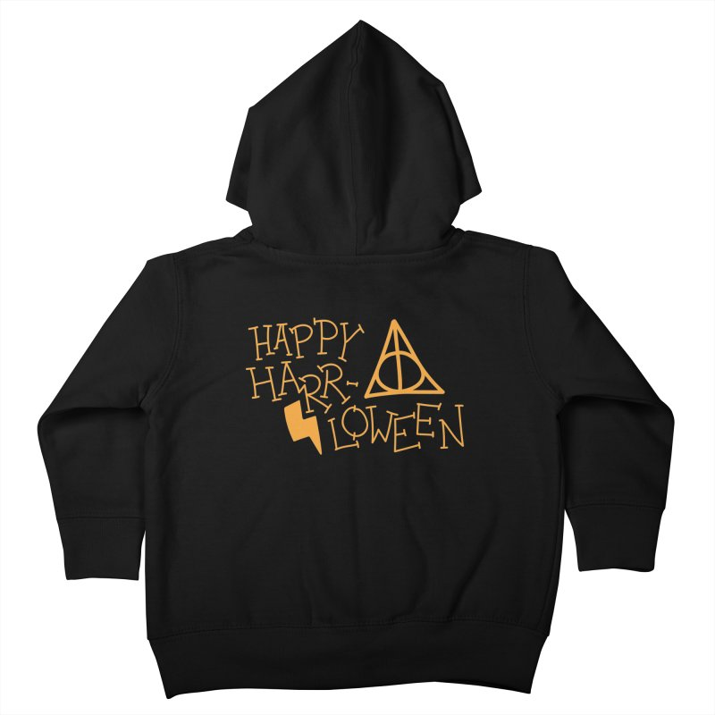 Happy Harrloween Kids Toddler Zip-Up Hoody by Daily Lovejuice Apparel