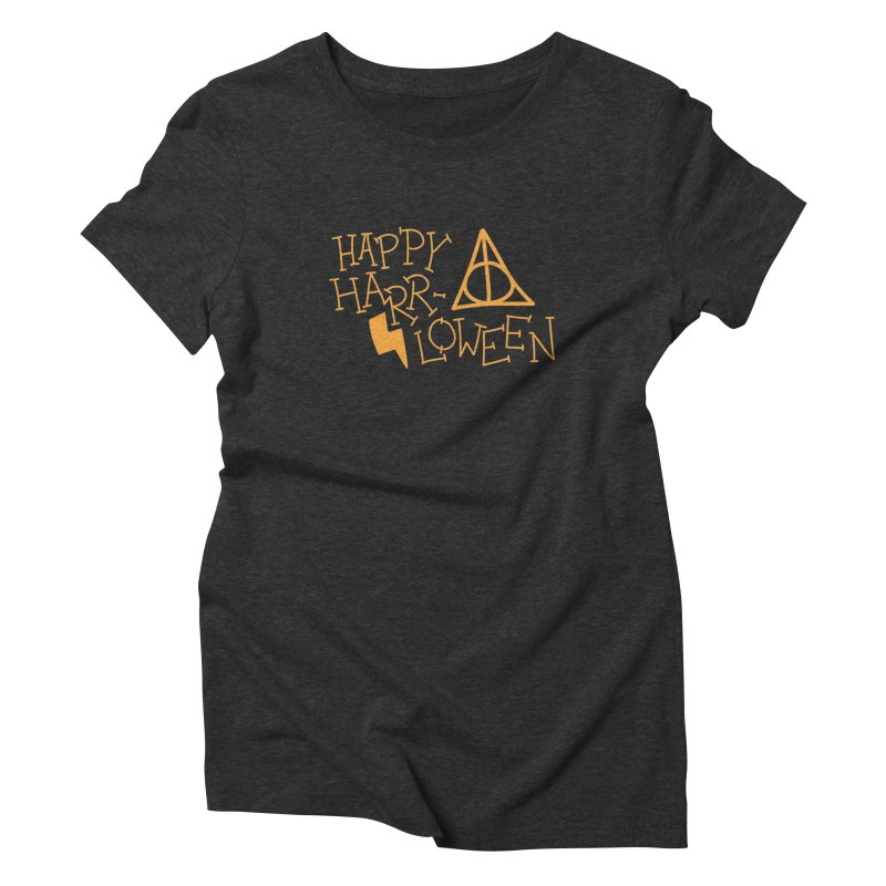 Happy Harrloween Women's Triblend T-Shirt by Daily Lovejuice Apparel