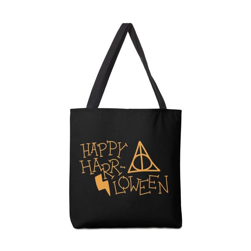 Happy Harrloween in Tote Bag by Daily Lovejuice Apparel