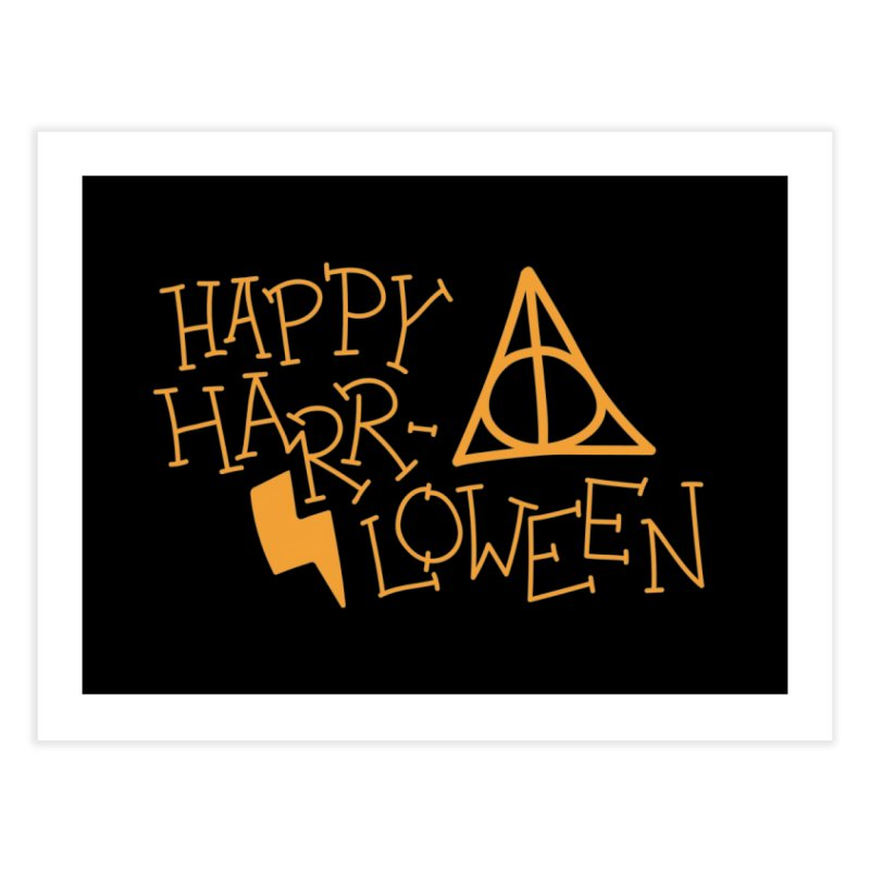 Happy Harrloween Home Fine Art Print by Daily Lovejuice Apparel