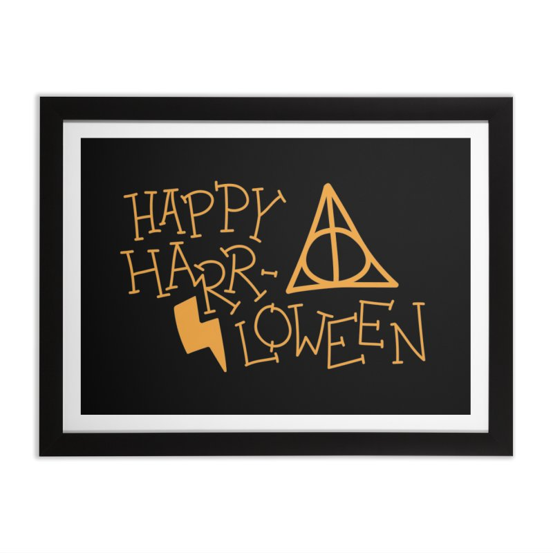 Happy Harrloween Home Framed Fine Art Print by Daily Lovejuice Apparel