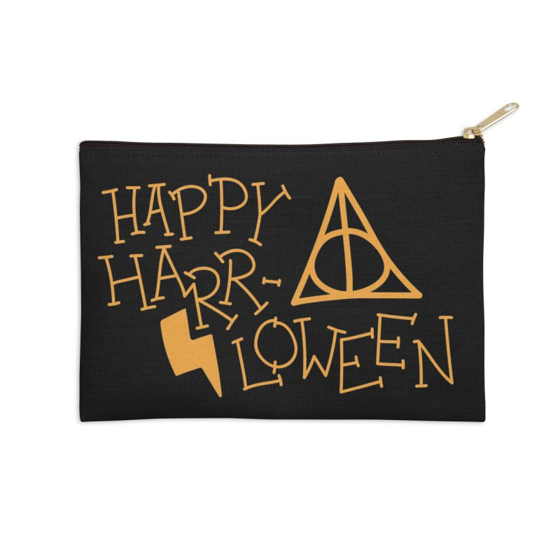 Happy Harrloween Accessories Zip Pouch by Daily Lovejuice Apparel