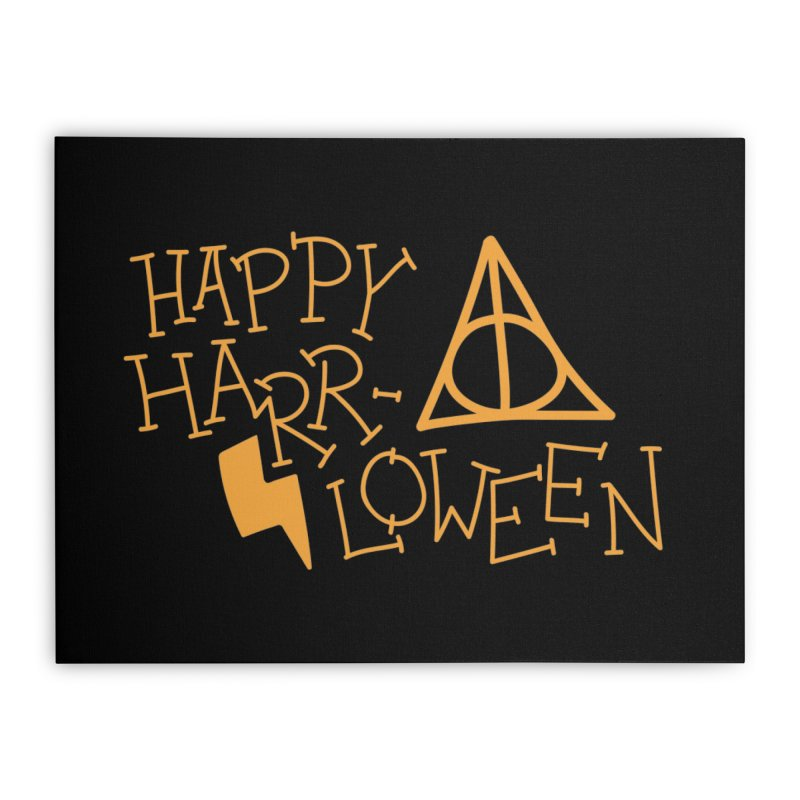 Happy Harrloween Home Stretched Canvas by Daily Lovejuice Apparel