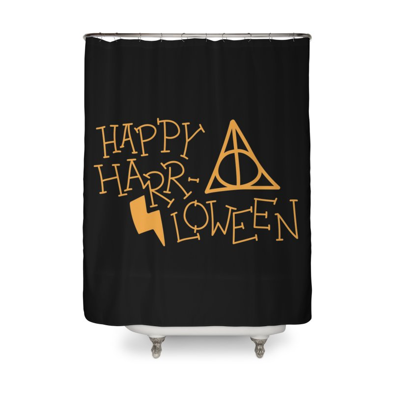 Happy Harrloween Home Shower Curtain by Daily Lovejuice Apparel