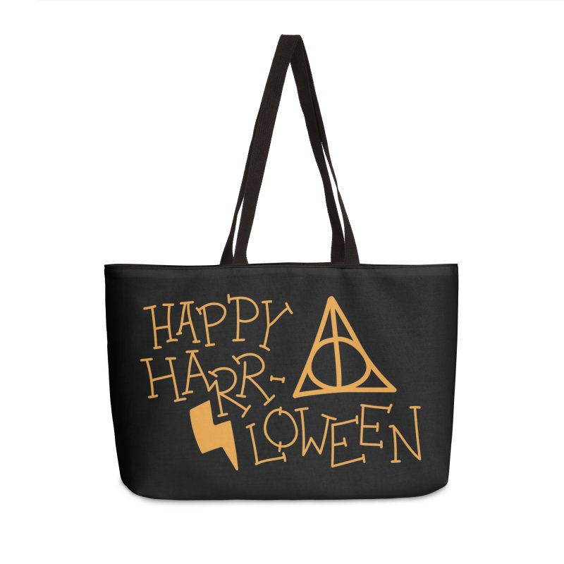 Happy Harrloween Accessories Weekender Bag Bag by Daily Lovejuice Apparel