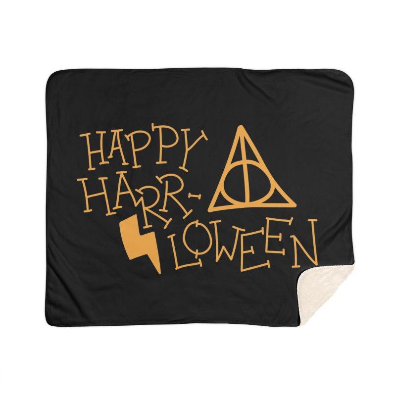 Happy Harrloween Home Sherpa Blanket Blanket by Daily Lovejuice Apparel