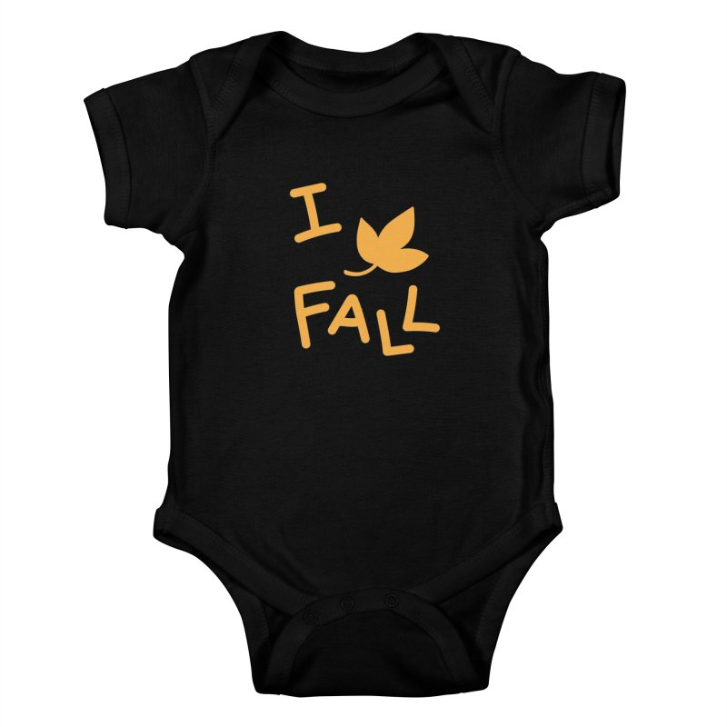 I Leaf Fall Kids Baby Bodysuit by Daily Lovejuice Apparel