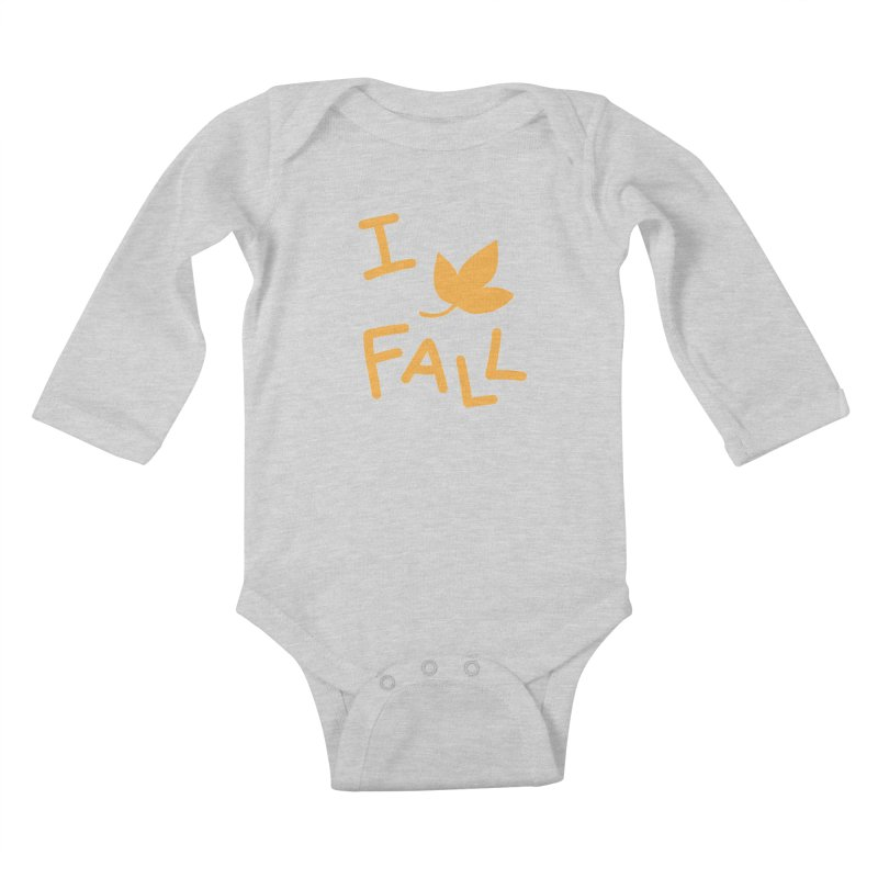 I Leaf Fall Kids Baby Longsleeve Bodysuit by Daily Lovejuice Apparel