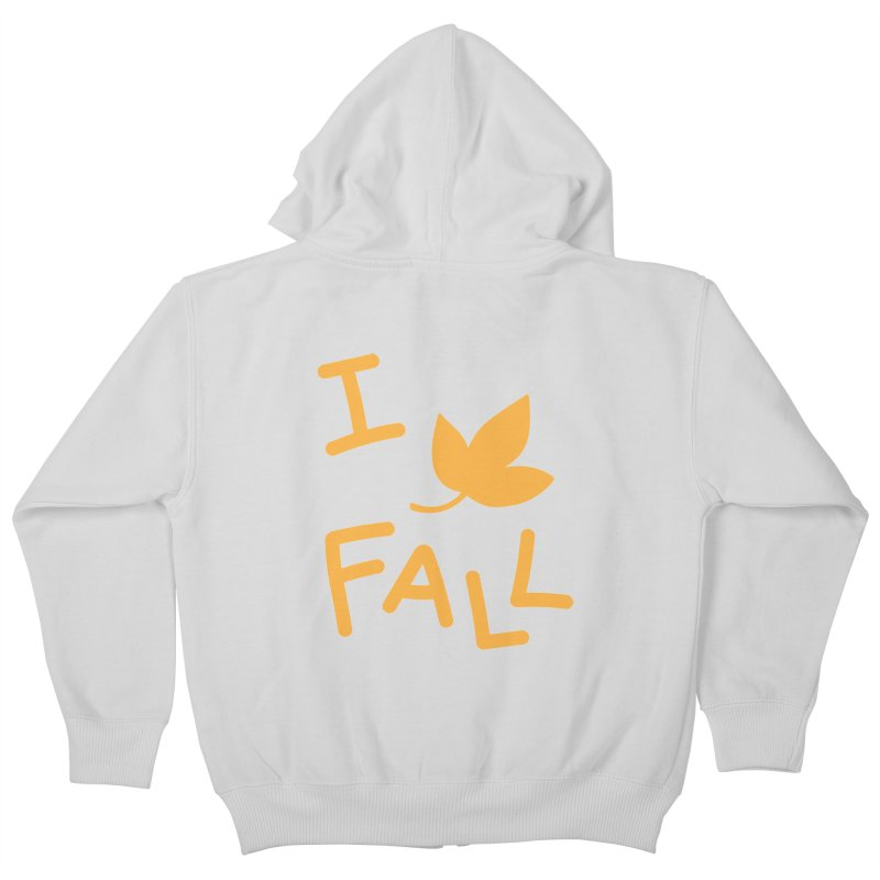 I Leaf Fall Kids Zip-Up Hoody by Daily Lovejuice Apparel