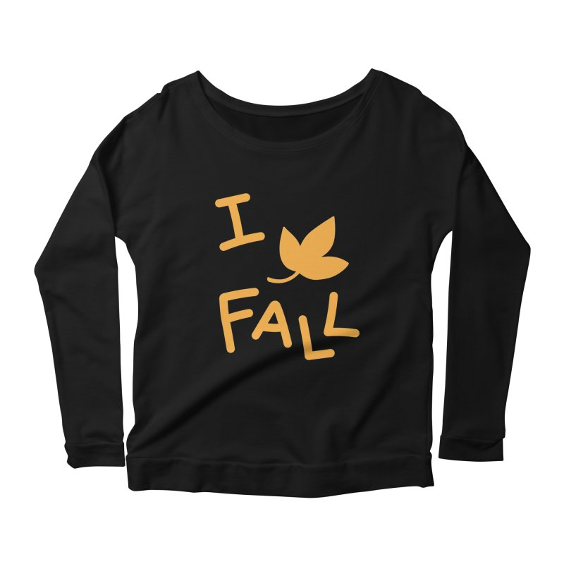 I Leaf Fall Women's Longsleeve Scoopneck  by Daily Lovejuice Apparel