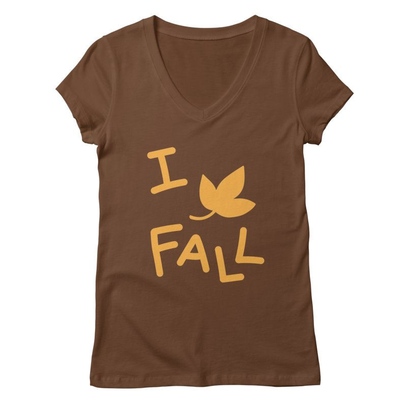 I Leaf Fall Women's Regular V-Neck by Daily Lovejuice Apparel