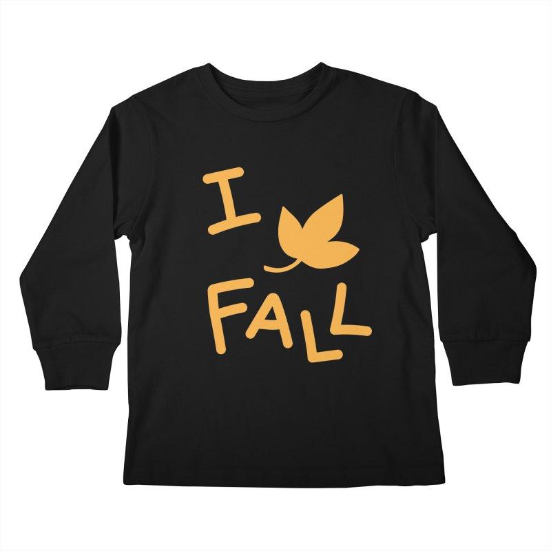 I Leaf Fall Kids Longsleeve T-Shirt by Daily Lovejuice Apparel