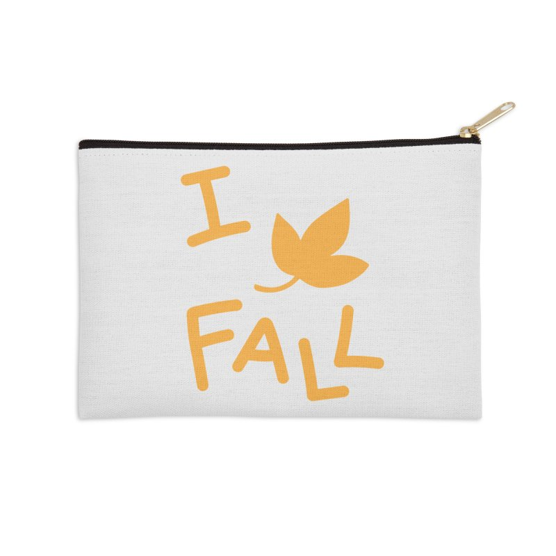 I Leaf Fall Accessories Zip Pouch by Daily Lovejuice Apparel