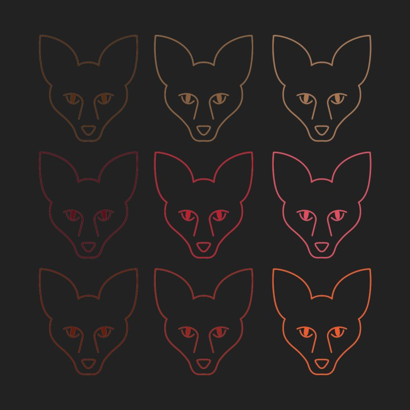 Colors of the Fox Women's Classic Unisex T-Shirt by Daily Lovejuice Apparel