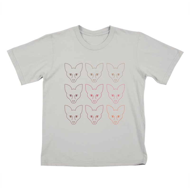 Colors of the Fox Kids T-shirt by Daily Lovejuice Apparel