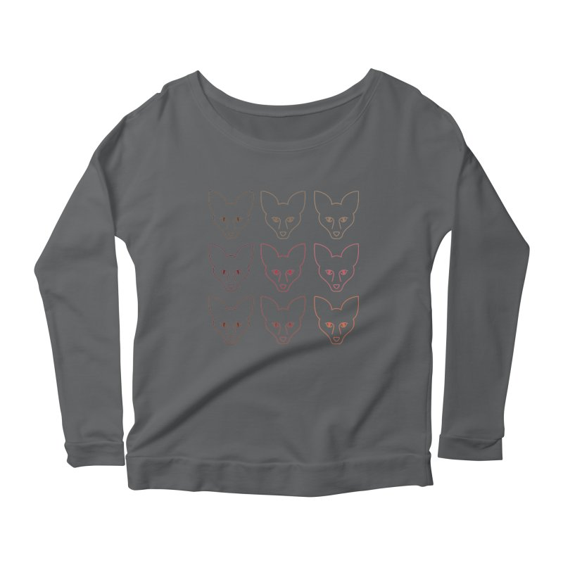 Colors of the Fox Women's Scoop Neck Longsleeve T-Shirt by Daily Lovejuice Apparel