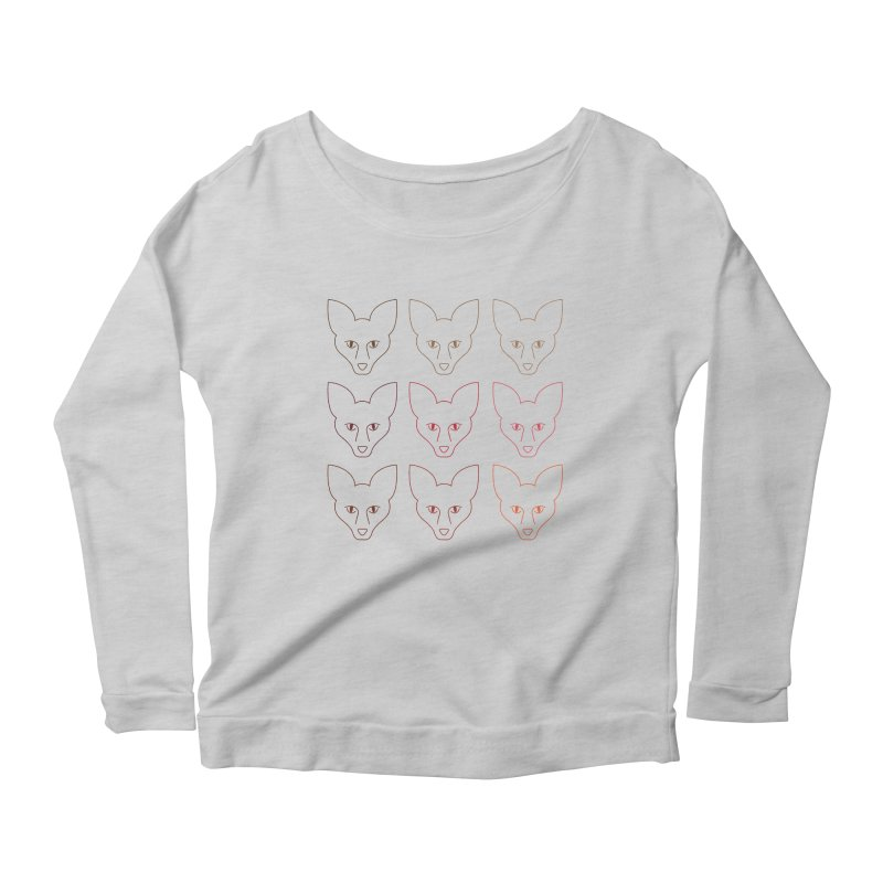 Colors of the Fox Women's Longsleeve Scoopneck  by Daily Lovejuice Apparel
