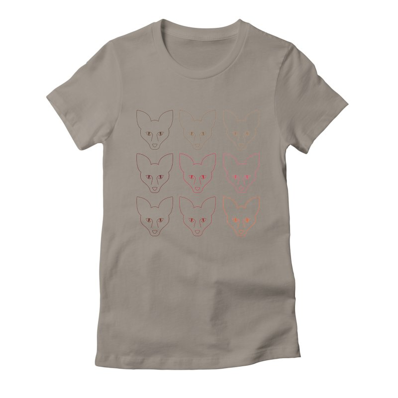 Colors of the Fox Women's Fitted T-Shirt by Daily Lovejuice Apparel