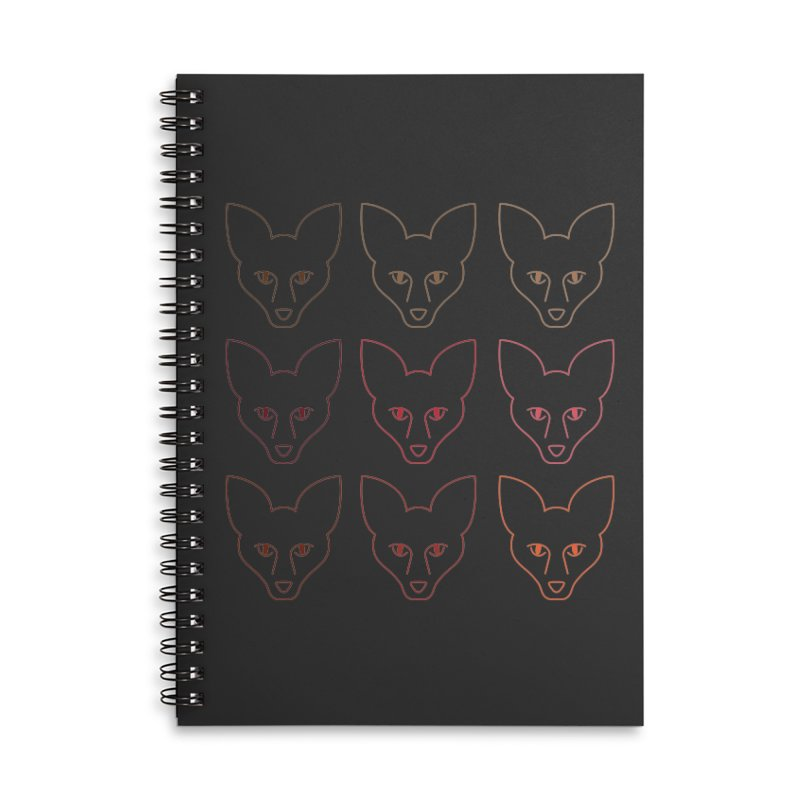 Colors of the Fox Accessories Lined Spiral Notebook by Daily Lovejuice Apparel