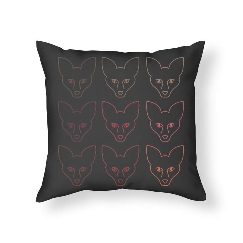 Colors of the Fox Home Throw Pillow by Daily Lovejuice Apparel