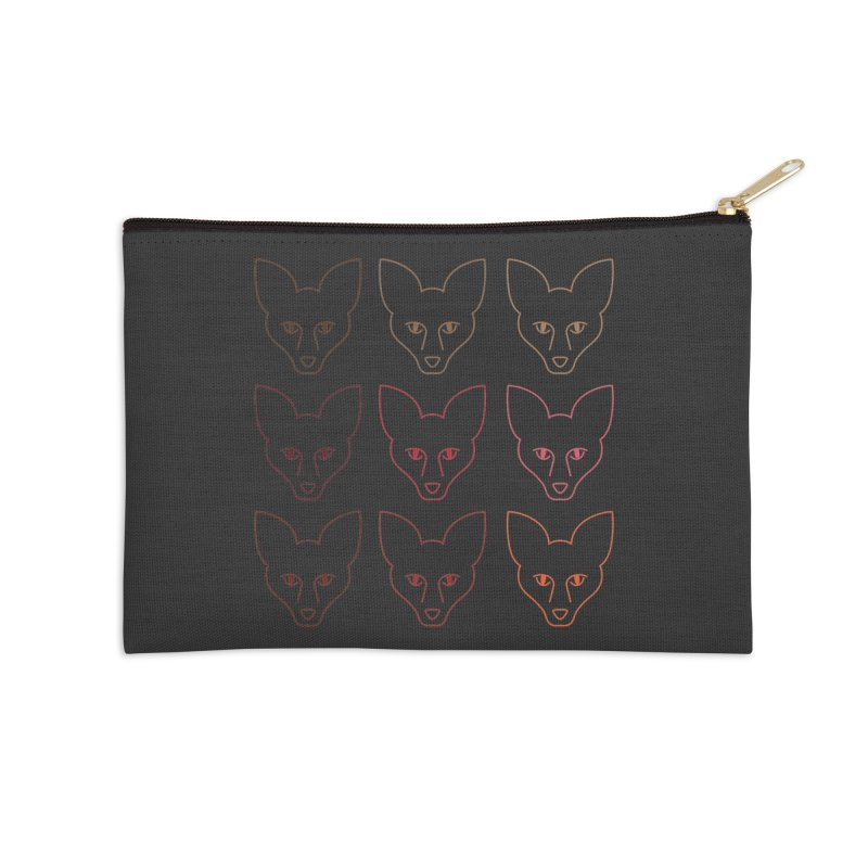 Colors of the Fox Accessories Zip Pouch by Daily Lovejuice Apparel