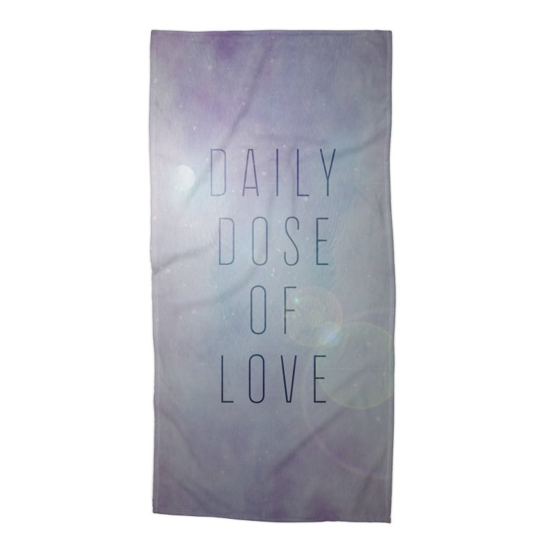 Daily Dose of Love - Galaxy Themed Accessories Beach Towel by Daily Lovejuice Apparel