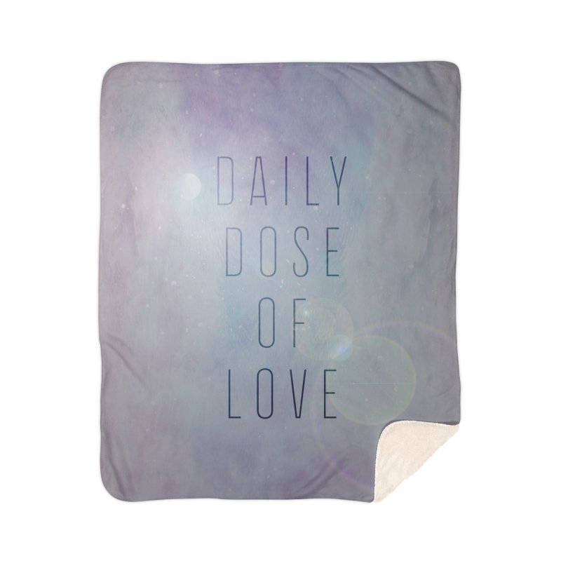 Daily Dose of Love - Galaxy Themed Home Sherpa Blanket Blanket by Daily Lovejuice Apparel
