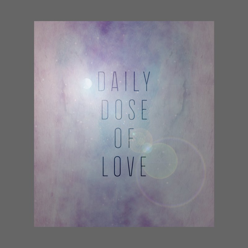 Galaxy Themed Daily Dose of Love 1 Home Throw Pillow by Daily Lovejuice Apparel