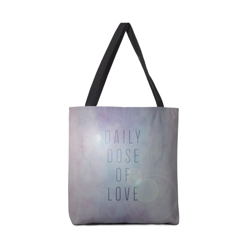 Daily Dose of Love - Galaxy Themed Accessories Tote Bag Bag by Daily Lovejuice Apparel