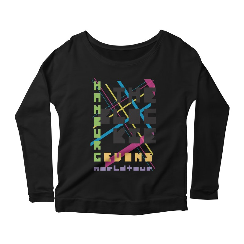 The Blockie Worldtour Women's Longsleeve Scoopneck  by Daily Lovejuice