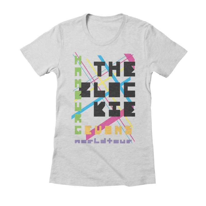 The Blockie Worldtour Women's Fitted T-Shirt by Daily Lovejuice
