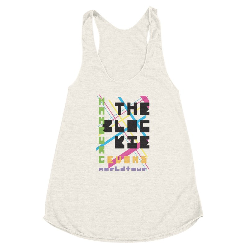 The Blockie Worldtour Women's Racerback Triblend Tank by Daily Lovejuice Apparel