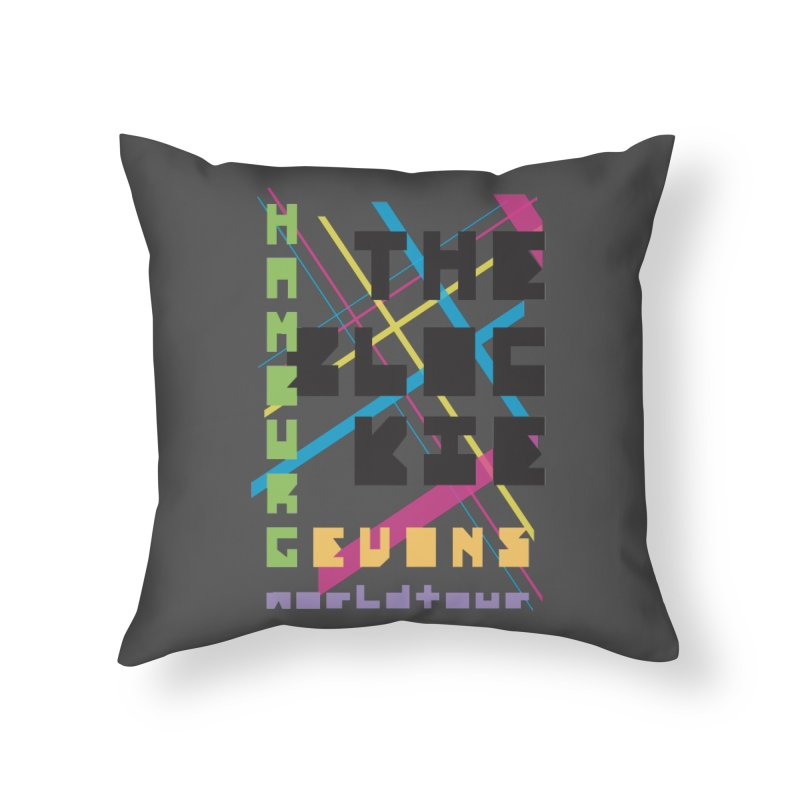 The Blockie Worldtour Home Throw Pillow by Daily Lovejuice Apparel