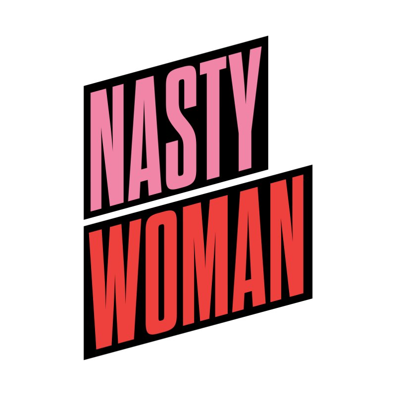 Nasty Woman (Pink/Red) Kids T-Shirt by 344