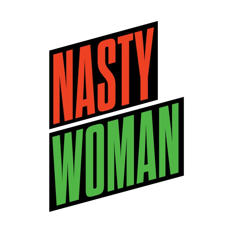 Nasty Woman (Red/Green) Kids T-Shirt by 344