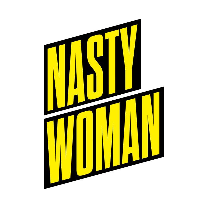 Nasty Woman (Yellow) Kids T-Shirt by 344