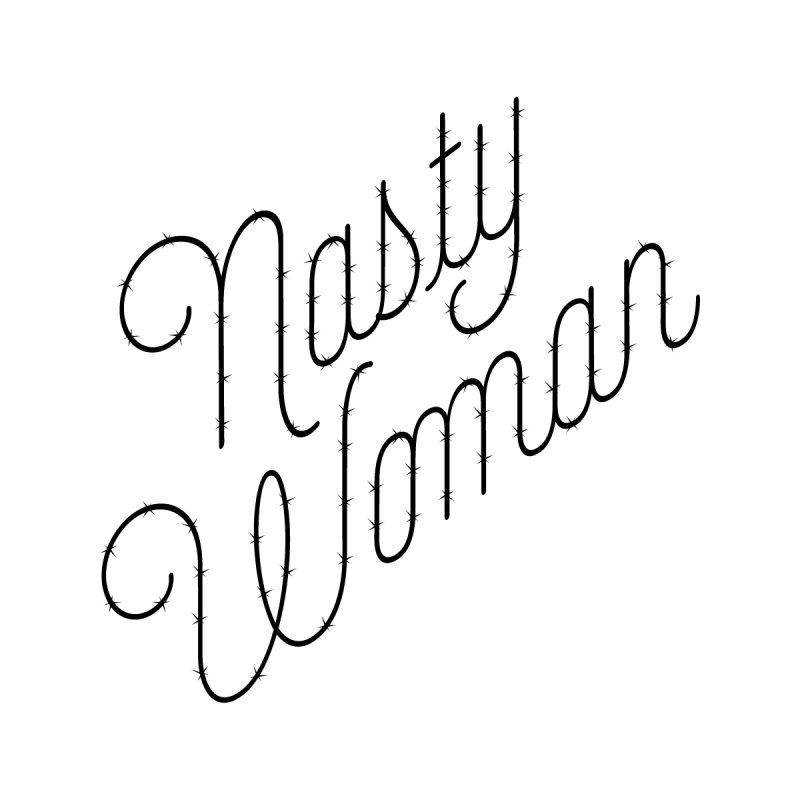 Nasty Woman (Barbed Black) Kids T-Shirt by 344