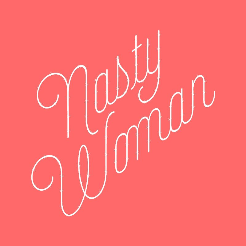Nasty Woman (Barbed White) Kids T-Shirt by 344