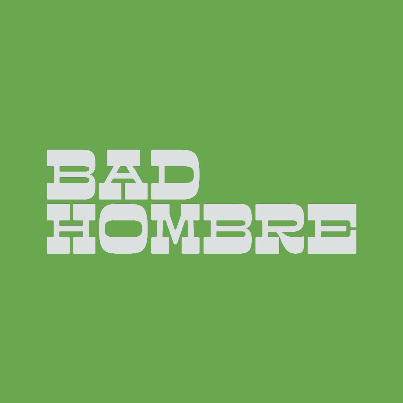 Bad Hombre II (White) Kids T-Shirt by 344