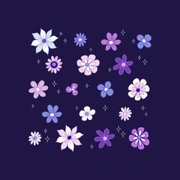 Design for Lilac Woods Floral Pattern