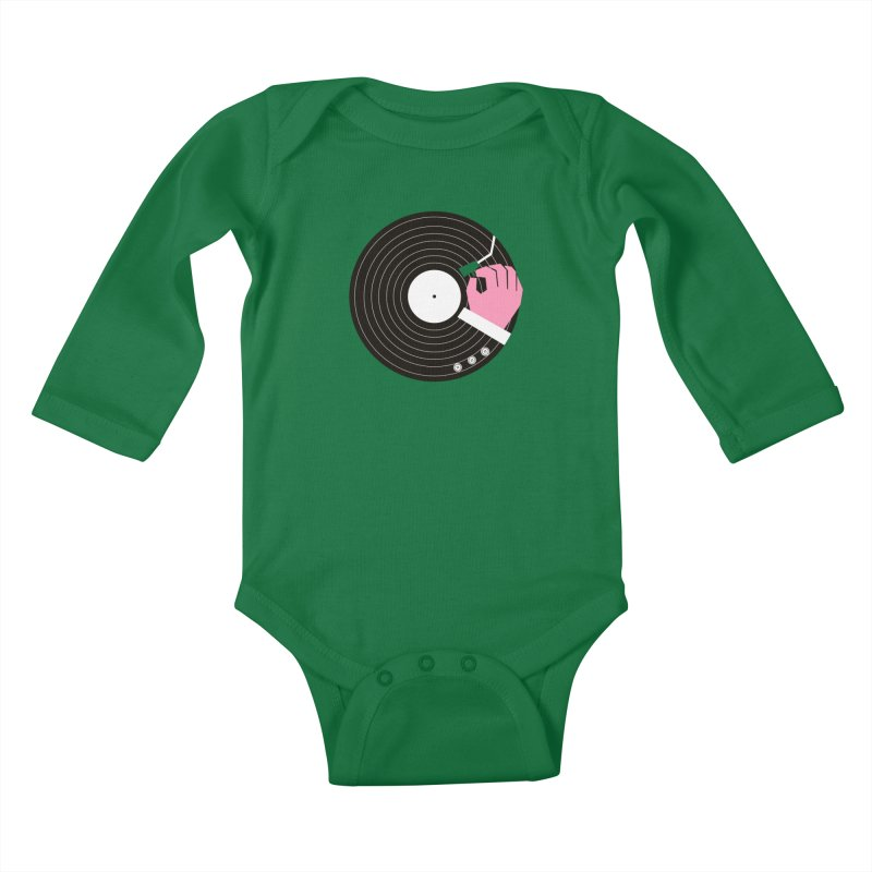 Music Business Kids Baby Longsleeve Bodysuit by daleedwinmurray's Artist Shop
