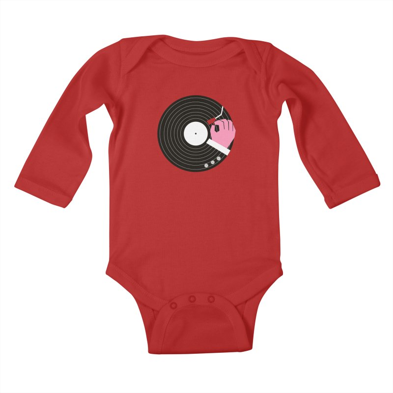 Music Business Kids Baby Longsleeve Bodysuit by daleedwinmurray's Artist Shop