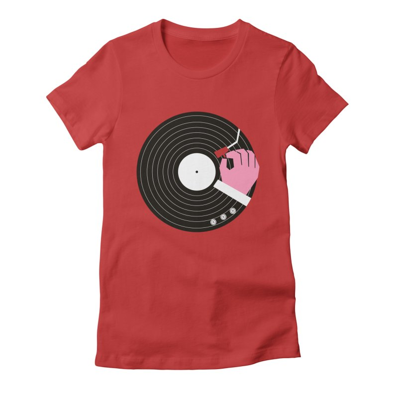 Music Business Women's Fitted T-Shirt by daleedwinmurray's Artist Shop