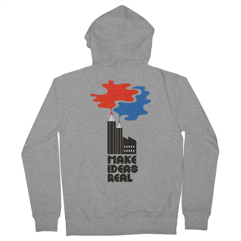 Make Ideas Real Men's Zip-Up Hoody by daleedwinmurray's Artist Shop