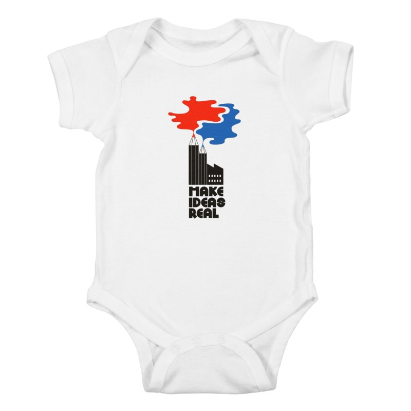 Make Ideas Real Kids Baby Bodysuit by daleedwinmurray's Artist Shop